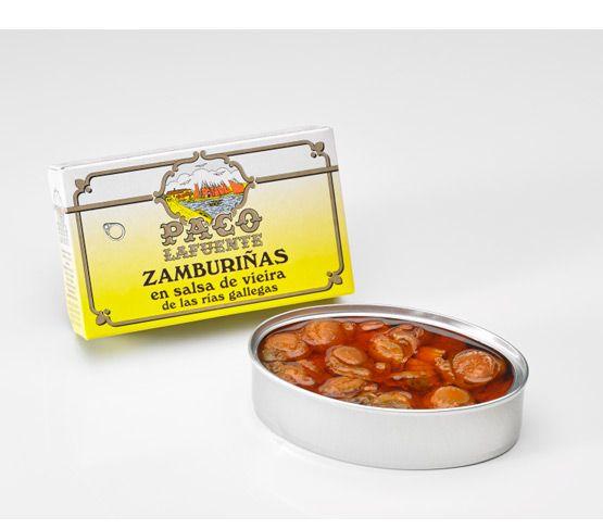 PACO LAFUENTE Zamburiñas en salsa de vieira 115g