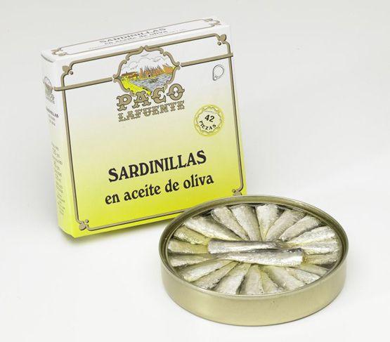 PACO LAFUENTE Sardinillas en aceite de oliva 40/42 120g