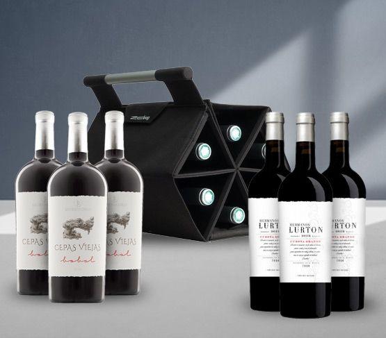 ZEbag + 6 Botellas Vino Tinto NEGRA