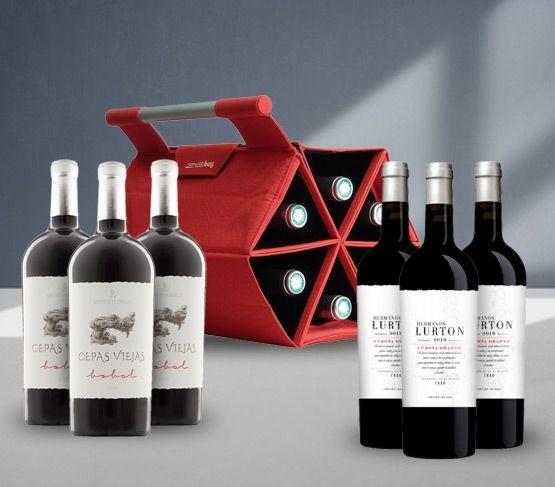 ZEbag + 6 Botellas Vino Tinto ROJA