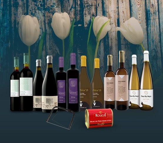 Especial Vinos Blancos y Tintos con Foie