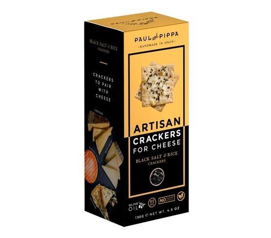 PAUL & PIPPA Artisan Crackers Smoked Salt 130g
