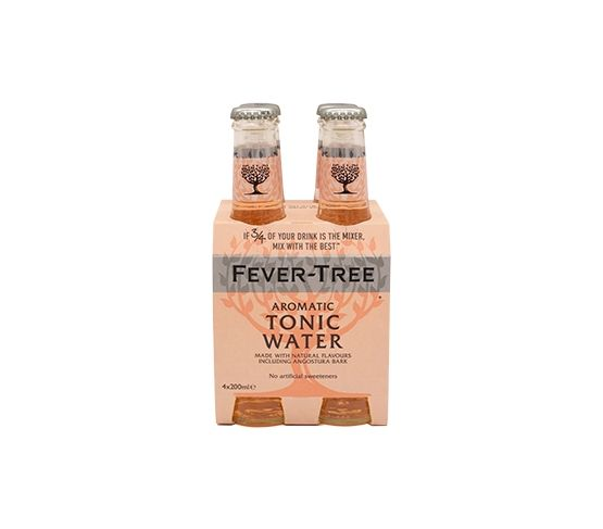 Pack 4 x 200ml FEVER-TREE Aromatic Tonic Water