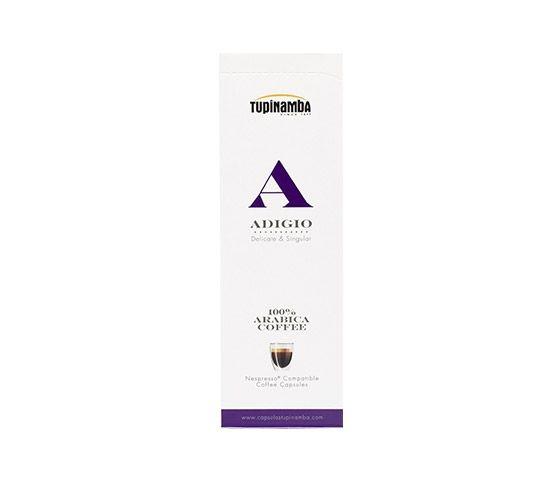 TUPINAMBA Adigio 10 Cápsulas Compatibles con Nespresso®