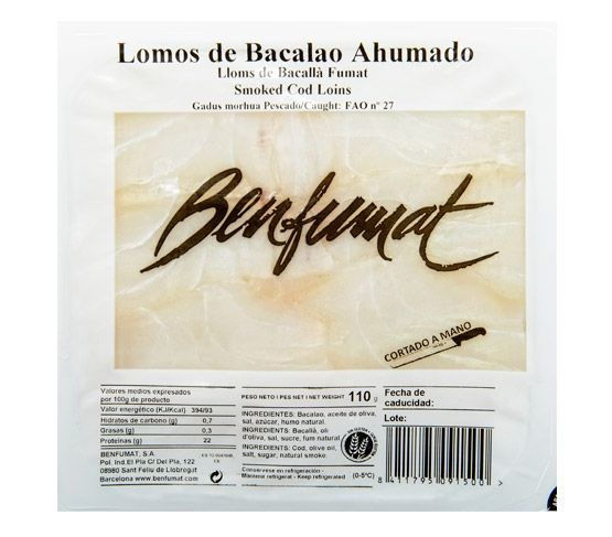 BENFUMAT Bacalao Ahumado Lomos en Aceite de Oliva 120g