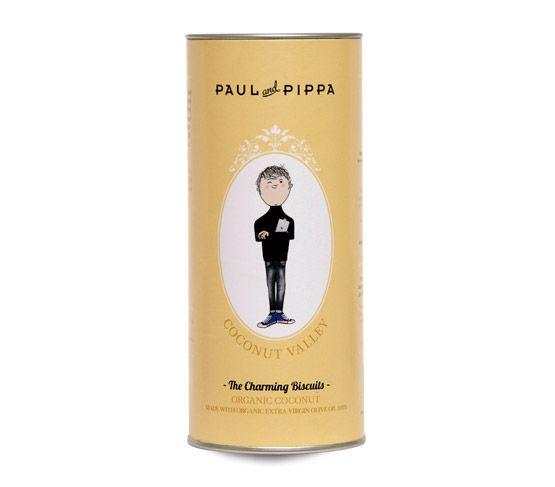PAUL & PIPPA Galletas ecológicas de coco 125g