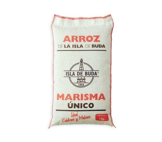 ISLA DE BUDA Arroz Marisma Extra 1kg saco algodón