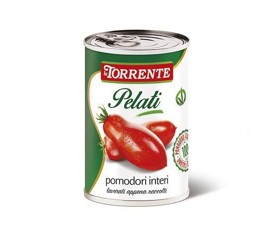 LA TORRENTE Tomate Entero Pelado 400g - Pelati