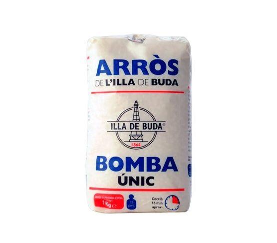 ISLA DE BUDA Arroz Extra Bomba Envase papel 1kg