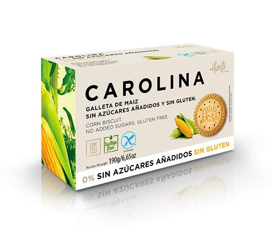 CAROLINA HONEST Galleta Sin Azúcares  y Sin  Gluten  190g