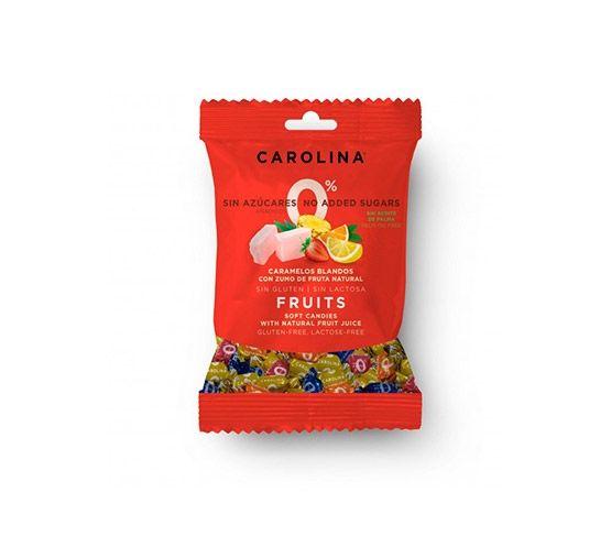 CAROLINA HONEST Caramelo Blando 0% Azúcares, 5 Frutas 90g