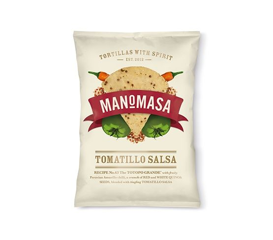 MANOMASA Tortilla Chips Chili Salsa Tomatillo 160g