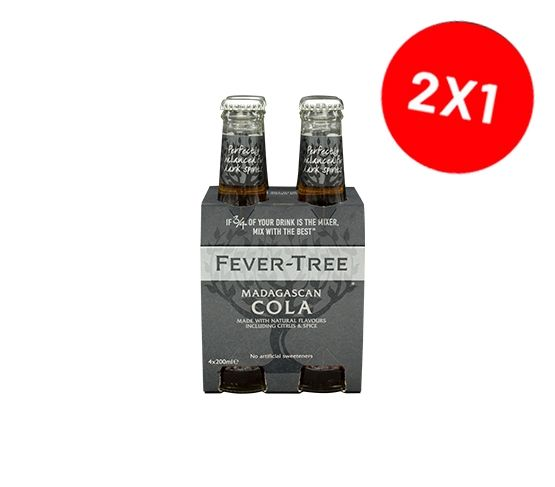 2 Packs FEVER-TREE Madagascan Cola pack 4 x 200ml
