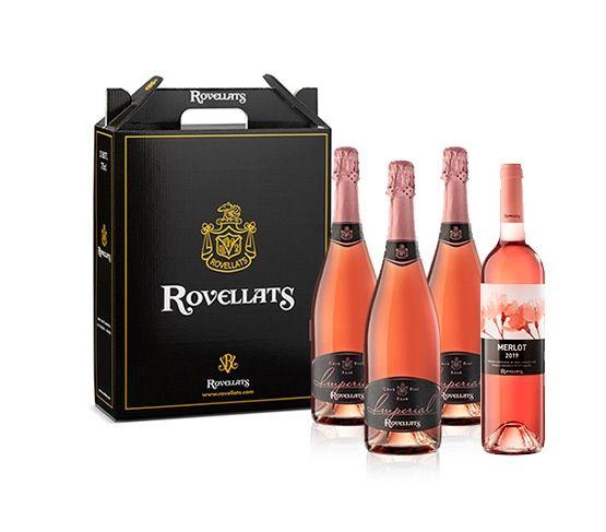 COLECCIÓN ROVELLATS 3 Cava Imperial Rosé + 1 Vino Merlot Rosé 2019
