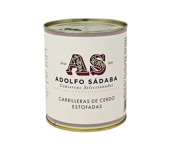 ADOLFO SÁDABA Carrilleras de Cerdo Estofadas lata 850gr