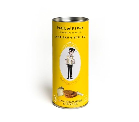 PAUL & PIPPA Galleta Ecológica Canister Don  Manchego 130g