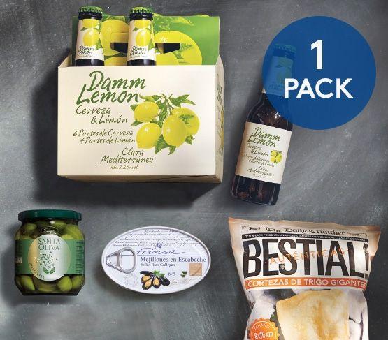 Pack Aperitivo + Damm Lemon 20