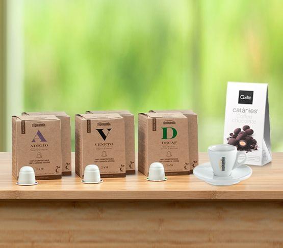 TUPINAMBA Pack de Cápsulas Compostables + REGALO (Compatibles con Nespresso®)