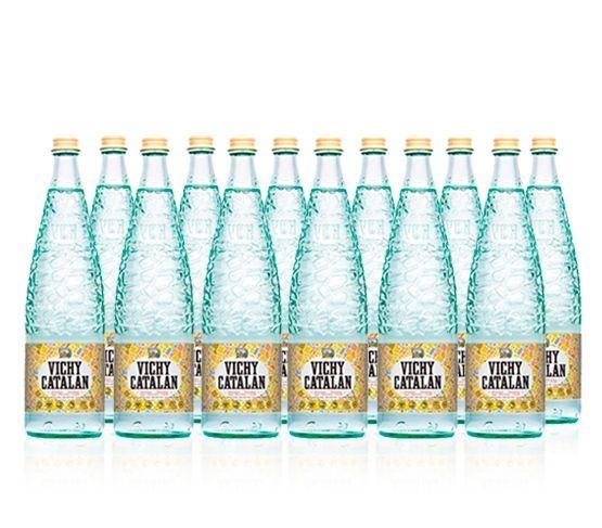 VICHY CATALÁN  Agua Mineral Natural con Gas Pack de 12 Botellas