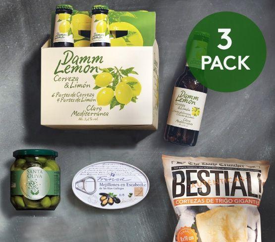 Pack Aperitivo + Damm Lemon Triple 20