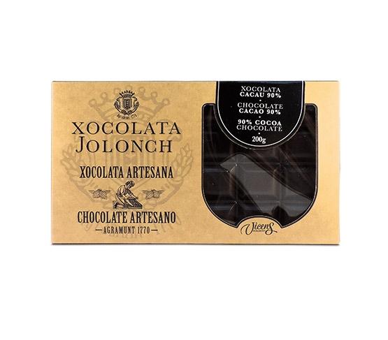 XOCOLATA JOLONCH Estuche Chocolate con Cacao  90% 200g