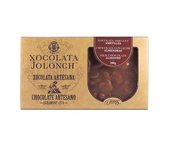 XOCOLATA JOLONCH Estuche Chocolate  con Leche y Almendras 200g