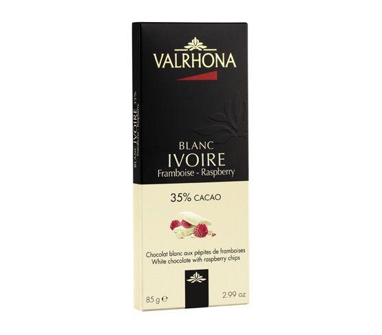 VALRHONA Tablette Ivoire Framboise 85g
