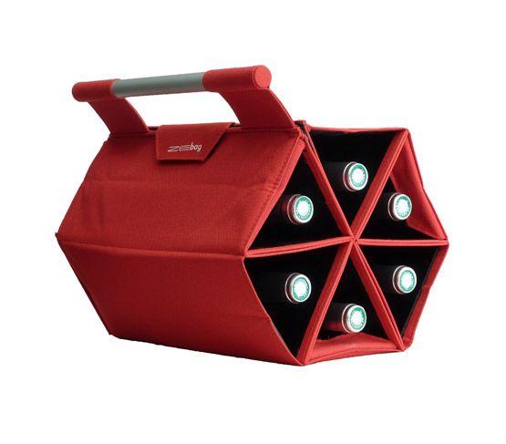 ZEbag Bolsa Almacenamiento de Botellas Roja