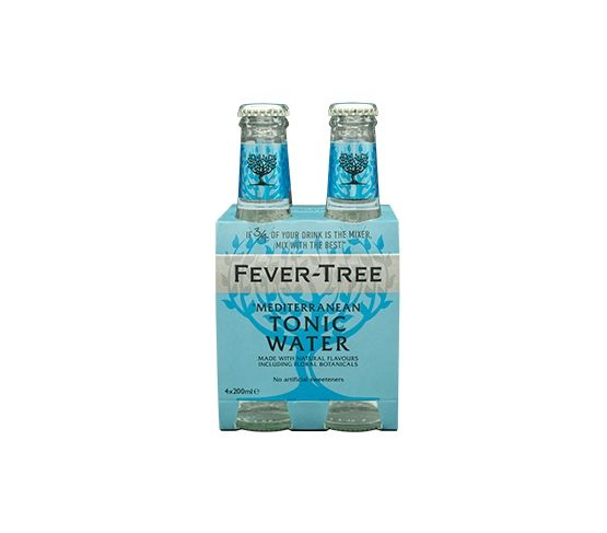 Pack 4 x 200ml FEVER-TREE Mediterranean Tonic Water