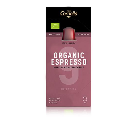 CAFÈS CORNELLÀ  Organic Espresso caja de 10 Cápsulas