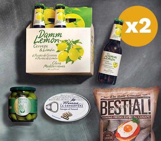 DAMM Lemon Pack Aperitivo Doble  21