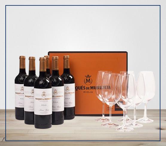 ESPECIAL MARQUÉS DE MURRIETA Reserva 2016 Caja Especial + 6 copas