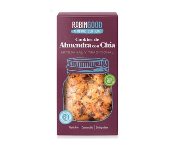 ROBINGOOD Cookies de Almendra con Chía 130g