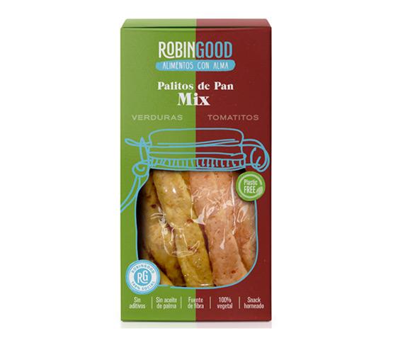 ROBINGOOD Palitos de Pan Mix (verduras y tomatitos) 100g