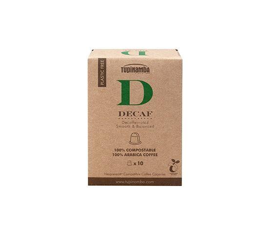TUPINAMBA Decaf 10 Cápsulas Compostable Compatibles con Nespresso®
