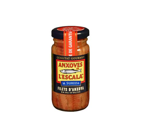 ANXOVES DE L'ESCALA Filetes anchoa en aceite de oliva 100g