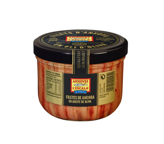 ANXOVES DE L'ESCALA Filetes anchoa en aceite de oliva  440g