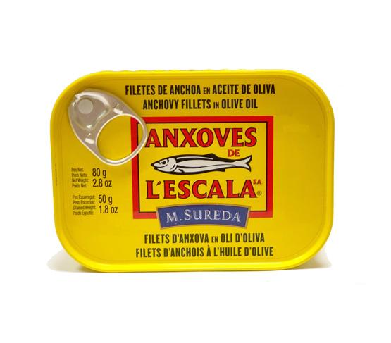 ANXOVES DE L´ESCALA Filetes anchoa en aceite de oliva 80g