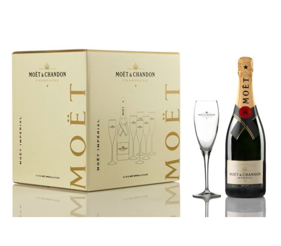 MOËT & CHANDON Brut Impérial + 6 copas MOËT & CHANDON de Regalo